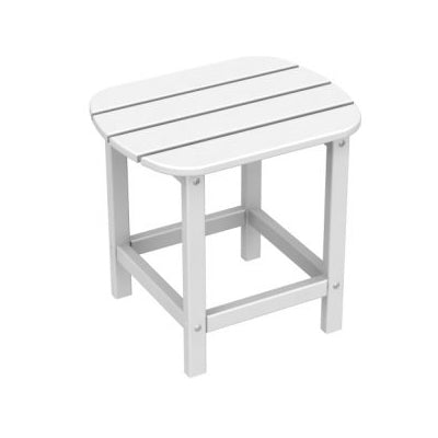 POLYWOOD South Beach Rectangle Recycled Plastic Side Table