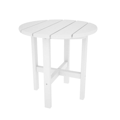 POLYWOOD Vineyard Round Recycled Plastic Side Table