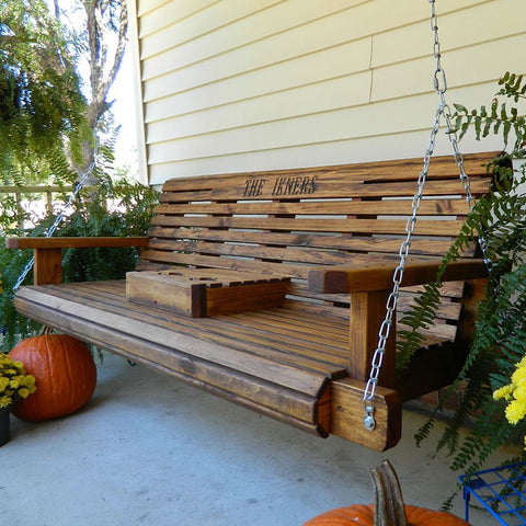 Southern Swings Rollback Stained Porch Swing