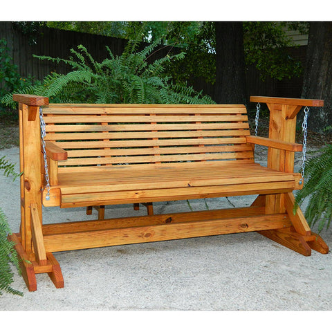 Southern Swings Rollback Stained Porch Glider