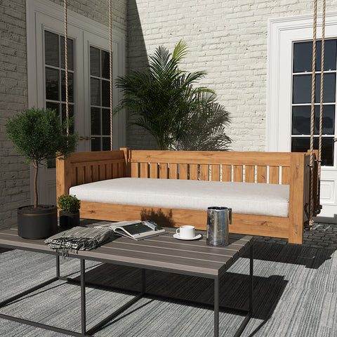 Lone Star Swing Co. The Austin Red Cedar Daybed Swing