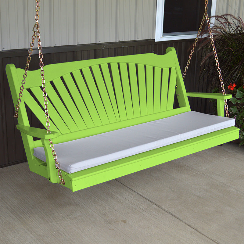 A L Furniture Co Fanback Amish Porch Swings Theporchswingcompany Com