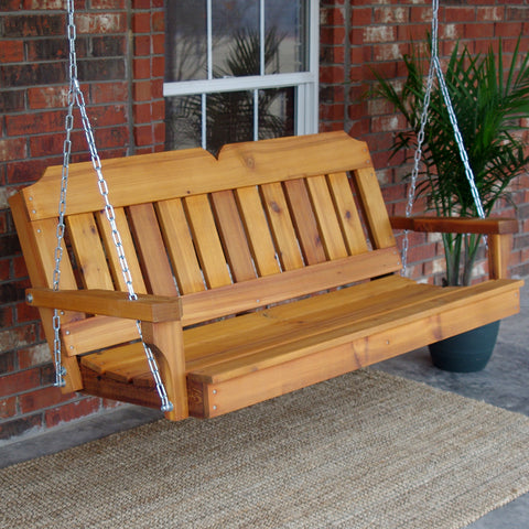 TMP Outdoor Furniture Victorian Red Cedar Porch Swing