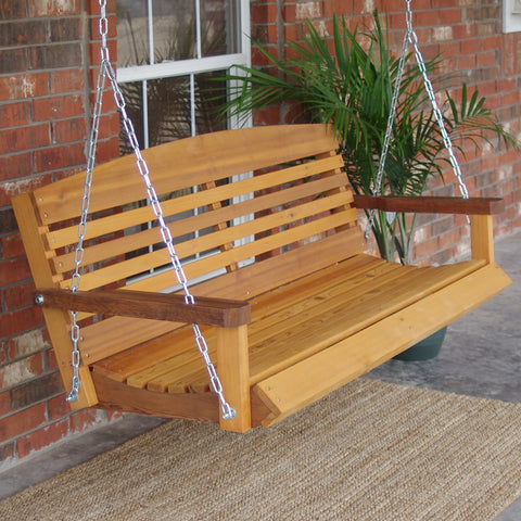 TMP Outdoor Furniture American Red Cedar Porch Swing