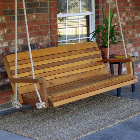 TMP Outdoor Furniture Colonial Red Cedar Porch Swing