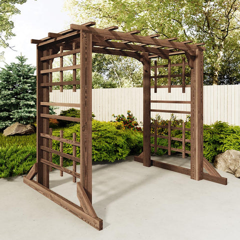 TMP Outdoor Furniture Red Cedar Deluxe Arbor Swing Stand
