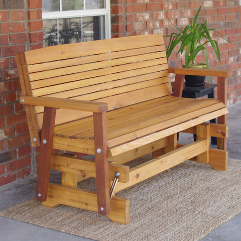 TMP Outdoor Furniture Colonial Red Cedar Outdoor Glider