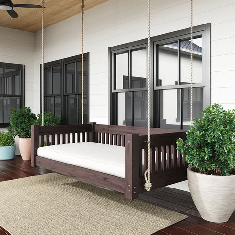 Lone Star Swing Co. The Dallas Red Cedar Daybed Swing