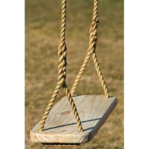Wood Swings Co. Premier Engravable Tree Swing