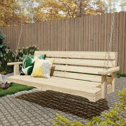 Weathercraft Autumn Leaves Treated Porch Swing