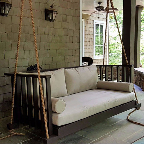 Porch Daybed Swings Hung By 2 Points Vs 4 Points Theporchswingcompany Com
