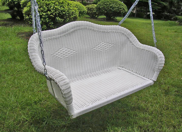 Resin Swing Shown In White