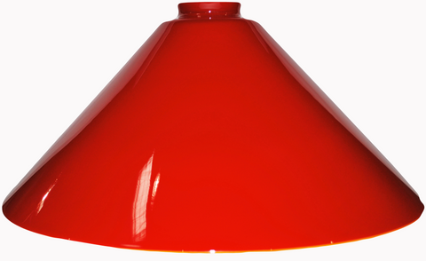"Vianne Cased Tangerine Flame 12"" Cone-"