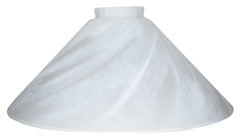 "Vianne White Feather Satine 10"" Cone-2610"