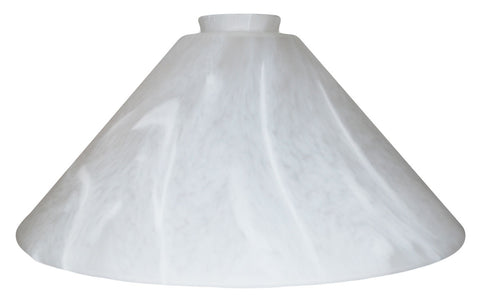 "Vianne White Feather Satine 12"" Cone-2612"
