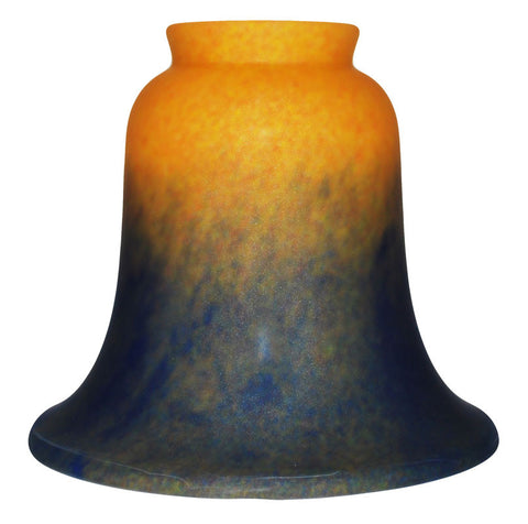 Vianne Pate de Verre Gold, Red, and Blue Bell-2930