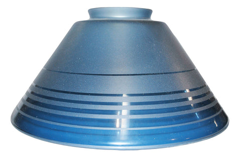 "Vianne Retro Blue Etch 10"" Cone-SKU-338"