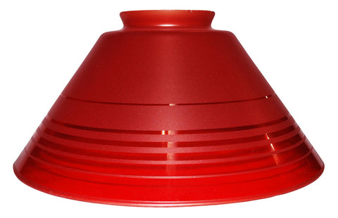 "Vianne Retro Red Etch 10"" Cone-339"