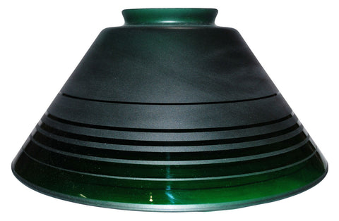 "Vianne Retro Green Etch 10"" Cone-340"