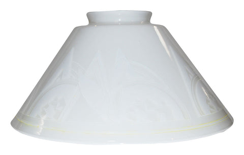 "Vianne Cased Opal Art Deco 10"" Cone-386"