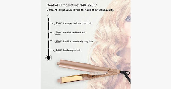 Pro 2-in-1 Hair Curling and Straightening Iron - FREE SHIP DEALS