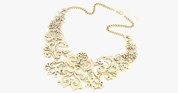Gold Statement Necklace - FREE SHIP DEALS