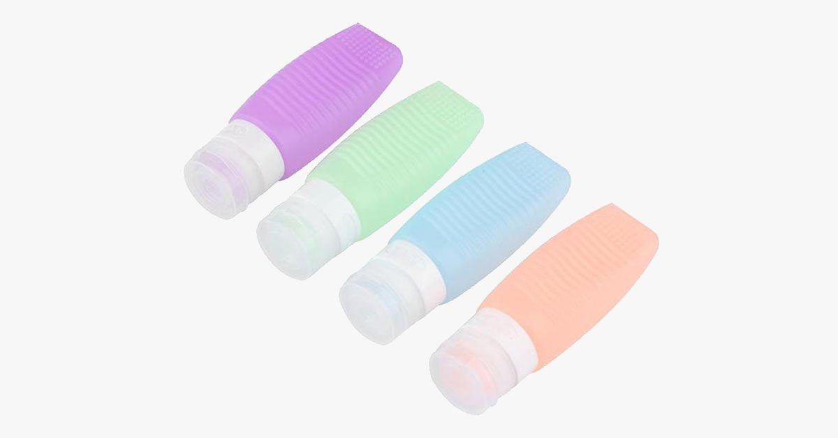 Brush Cleaner & Travel Bottle - Made From Silicone - Refillable, 48 ml
