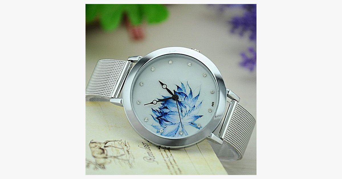 Blue Rose Watch - FREE SHIP DEALS