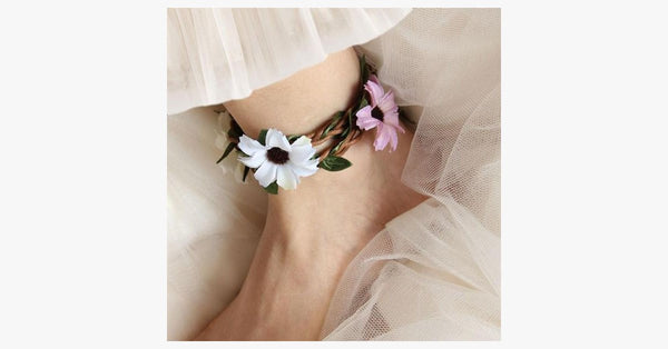 Floral Anklet - FREE SHIP DEALS
