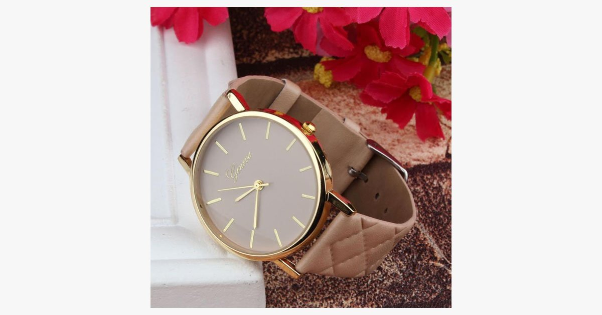 Checkers Faux Leather Watch - FREE SHIP DEALS