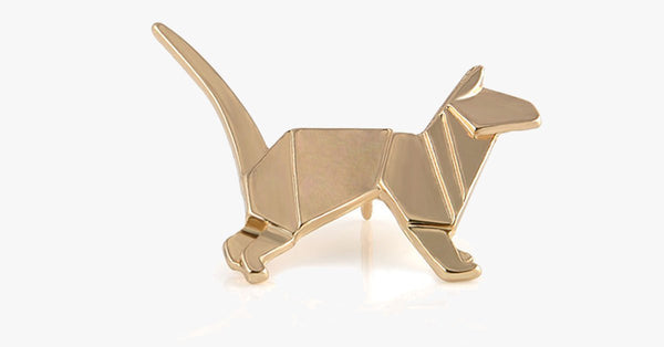 Golden Cat Origami Pin - FREE SHIP DEALS