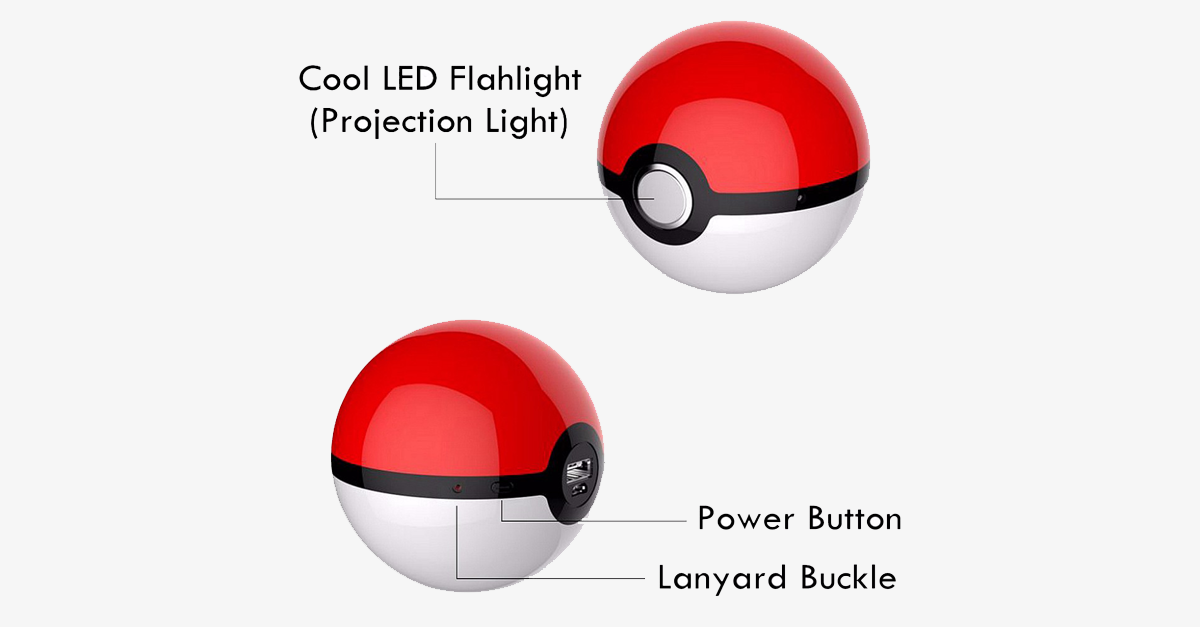 Pokemon Ball Portable Phone Charger – Charge Your Phone & Relive With The Kid In You!