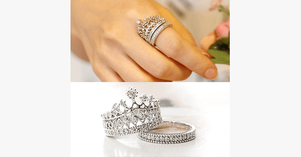 Imperial Crown Ring Set - FREE SHIP DEALS