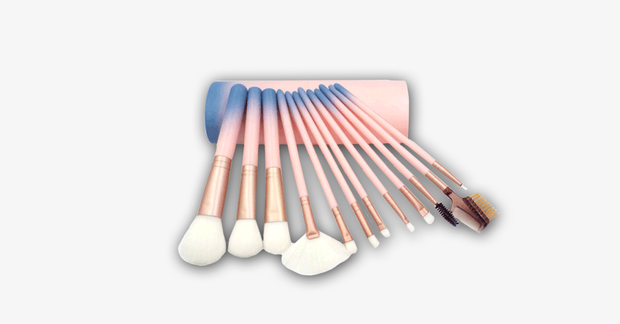 12 Piece Pink Ombre Brush Set - FREE SHIP DEALS