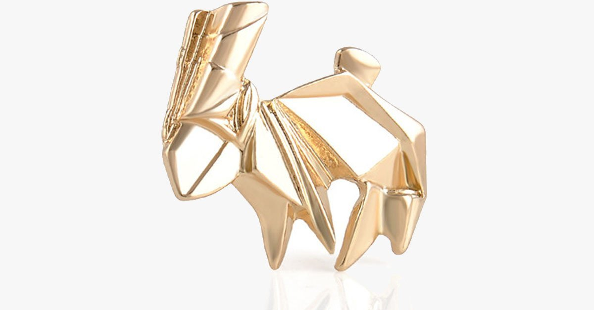 Golden Rabbit Origami Pin - FREE SHIP DEALS