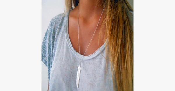 Vintage Feather Necklace - FREE SHIP DEALS