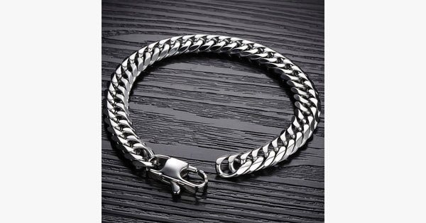 Silver Chain Bracelet – Extremely Durable – Add a Dash of Charm to Your Overall Look!