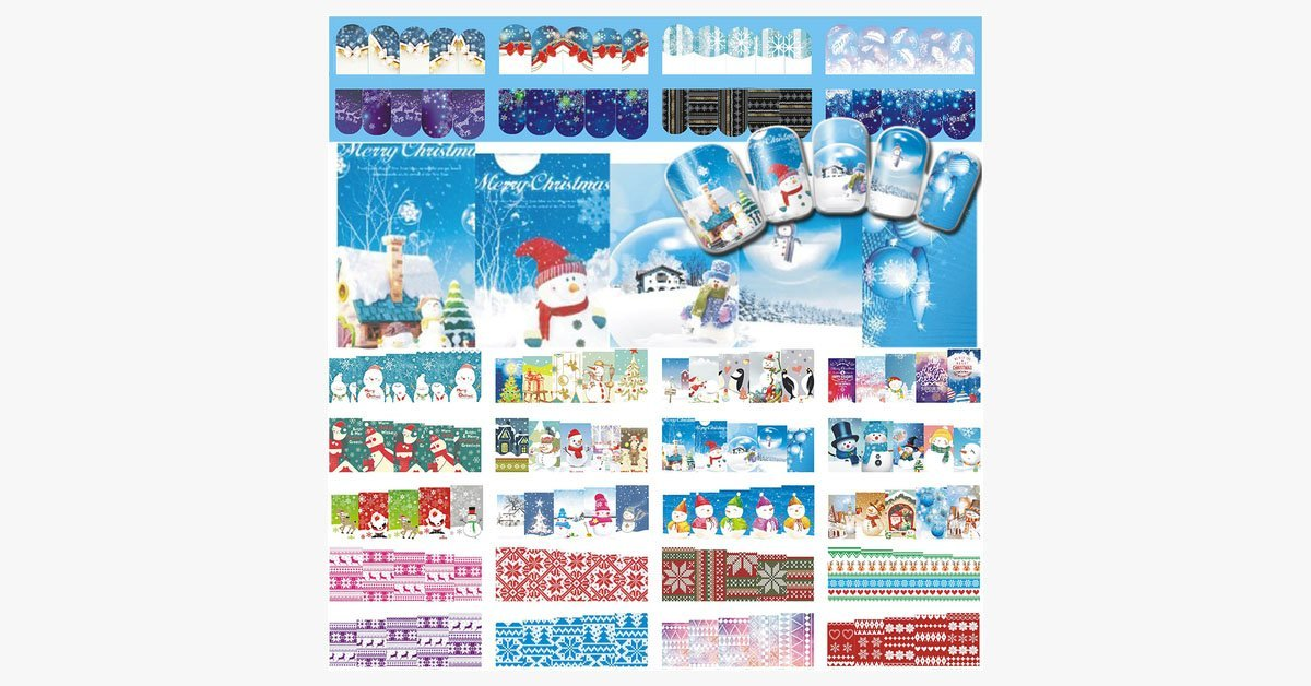 Christmas Nail Stickers - FREE SHIP DEALS