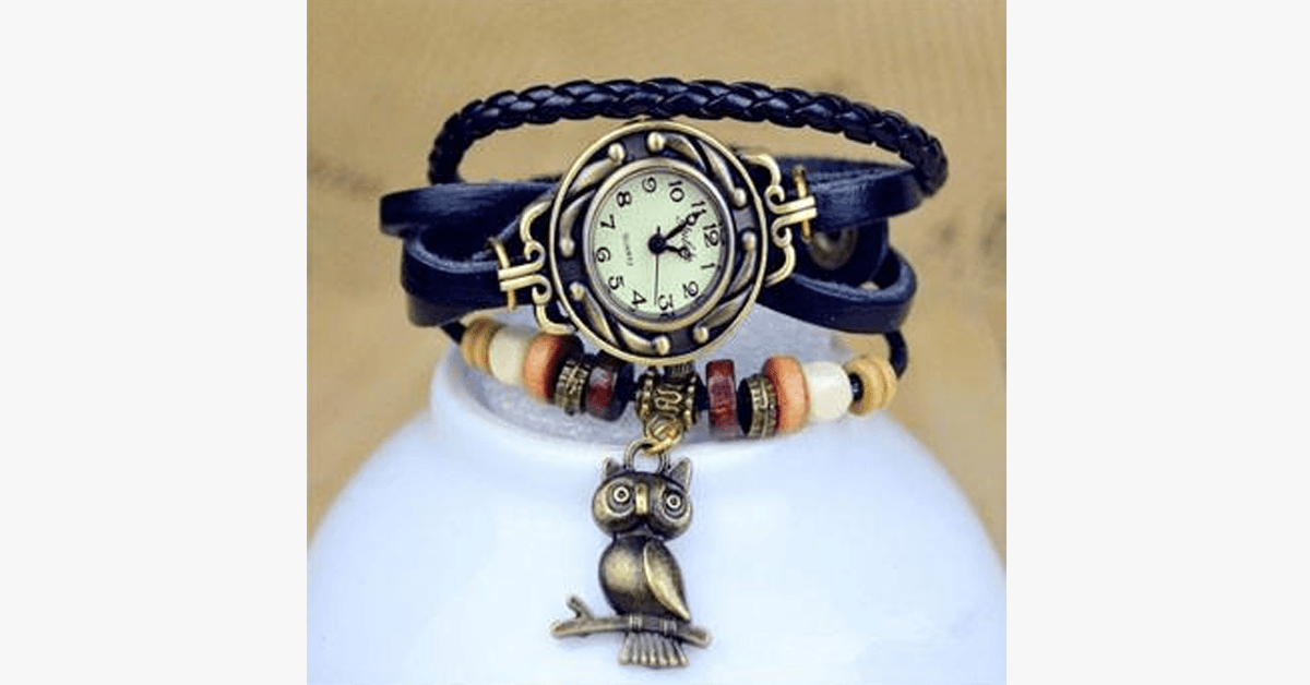Owl Vintage Wrap Watch - FREE SHIP DEALS
