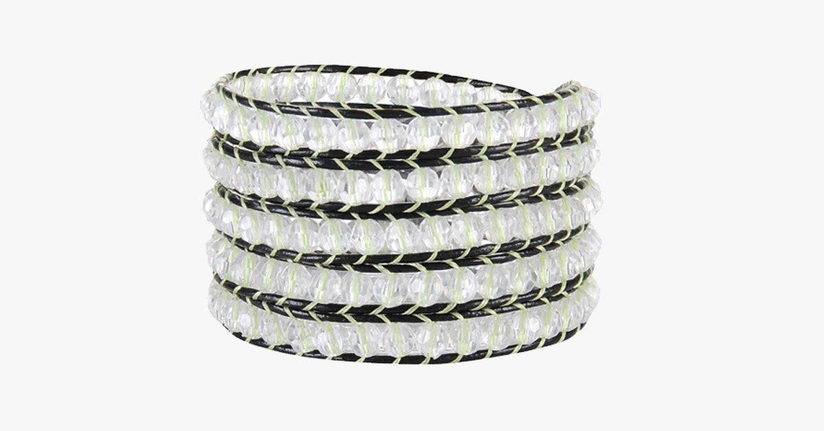 White Leopard Wrap Bracelet - FREE SHIP DEALS