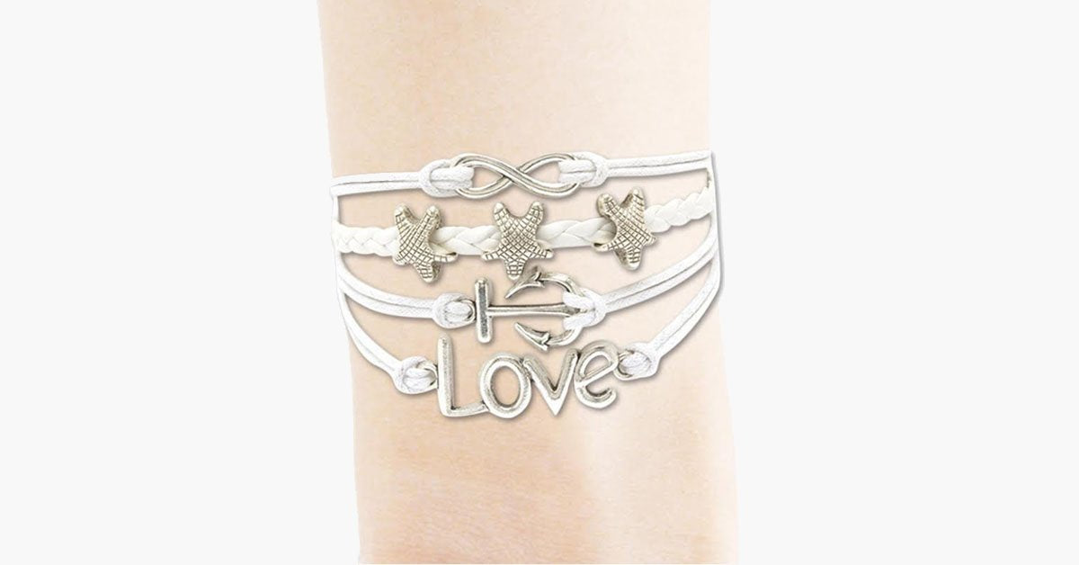 Infinity Star Anchor Love Bracelet