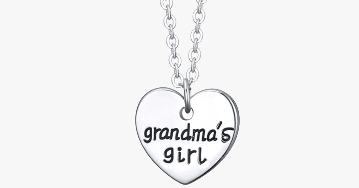 Grandma's Girl - Single Heart Pendant - FREE SHIP DEALS