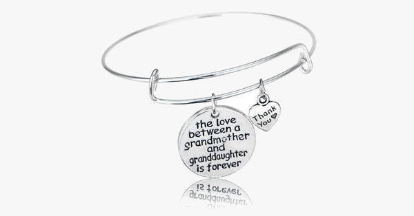 Grandmother and Granddaughter Forever Thankful Charm Bangle - FREE SHIP DEALS