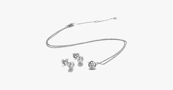 Classic One Crystal Necklace Set - FREE SHIP DEALS
