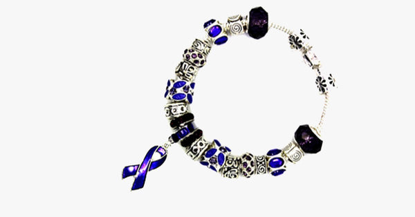 Purple Ribbon Awareness Bracelet - FREE SHIP DEALS