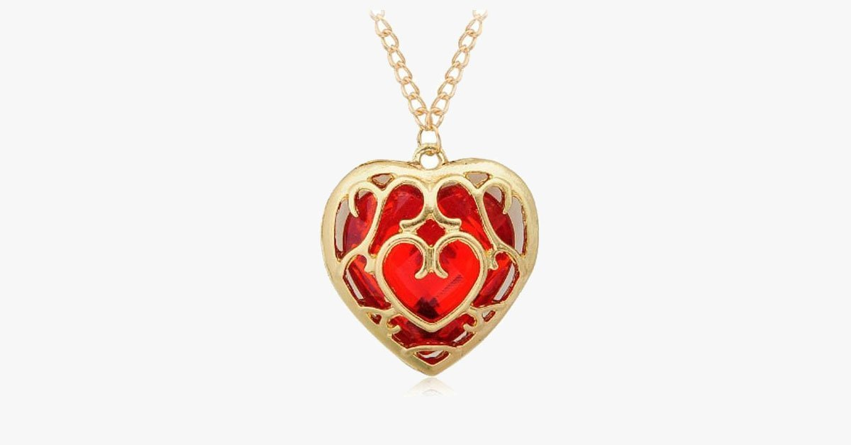 Embroidered Heart Necklace - FREE SHIP DEALS