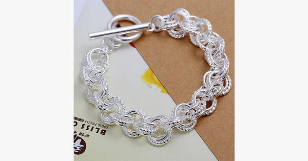 Plated circle bracelet-silver