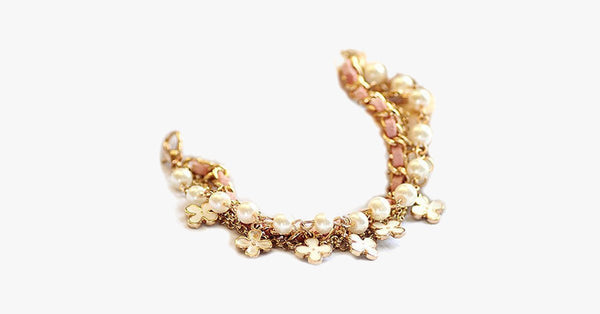 Clover Flower Pearl Bracelet - FREE SHIP DEALS