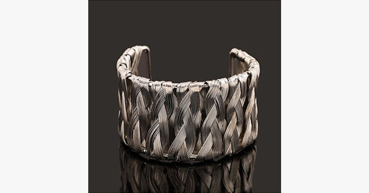 Silver Weave Bangle - FREE SHIP DEALS