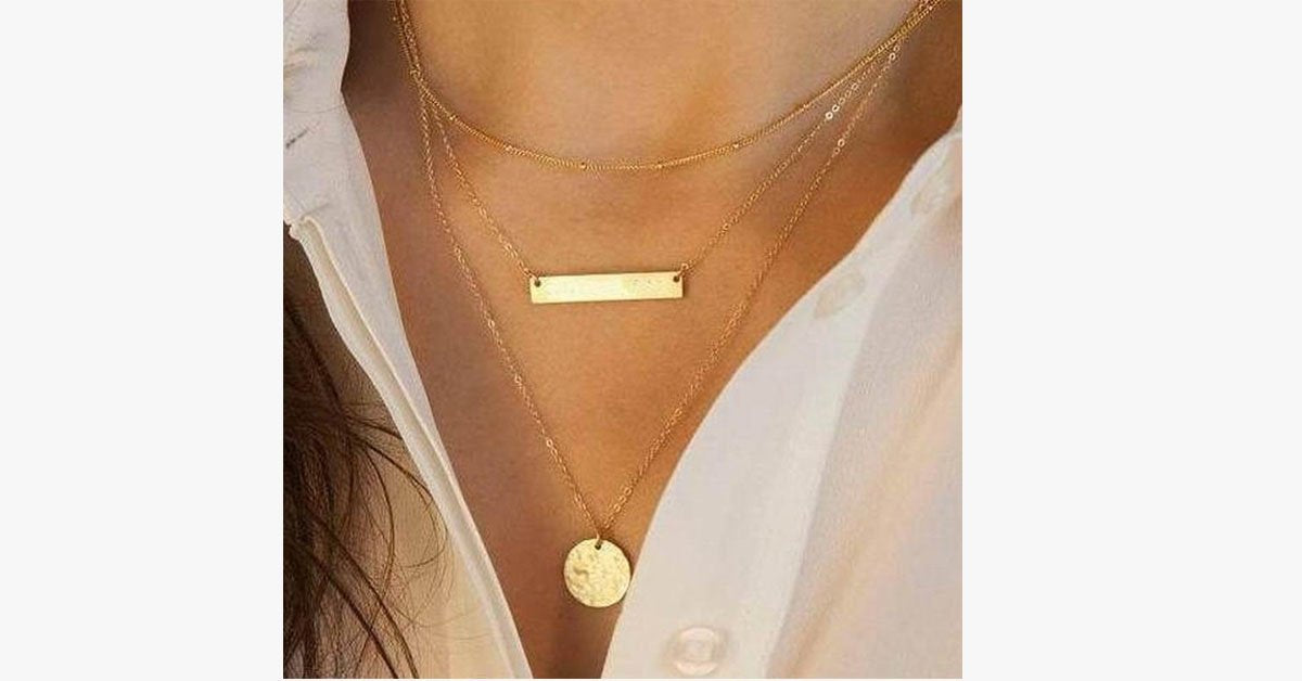 Bar Layer Necklace12 - FREE SHIP DEALS